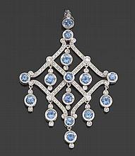 Ladies' Sapphire and Diamond Pendant