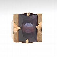 Ladies' Gold and Amethyst Cocktail Ring