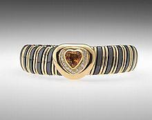 Ladies' Citrine and Diamond Bracelet