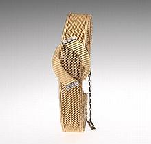 Ladies' Gold and Diamond Watch Bracelet