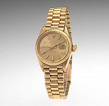 Ladies' Rolex for Tiffany & Co Gold Oyster Perpetual Datejust Watch, ca. 1980