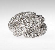 Ladies' Diamond Swirl Ring