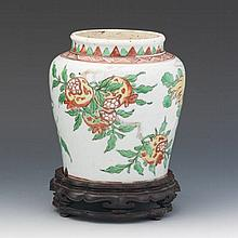 Transitional Preserves Pot, Chinese, ca. Late Ming, Early Qing Dynasty