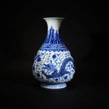 QIANLONG MARK, A BLUE AND WHITE VASE