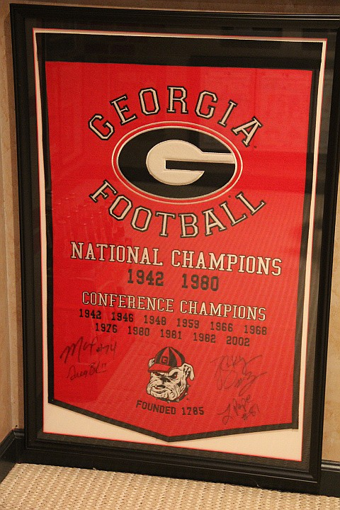 Signed Felt Banner Georgia