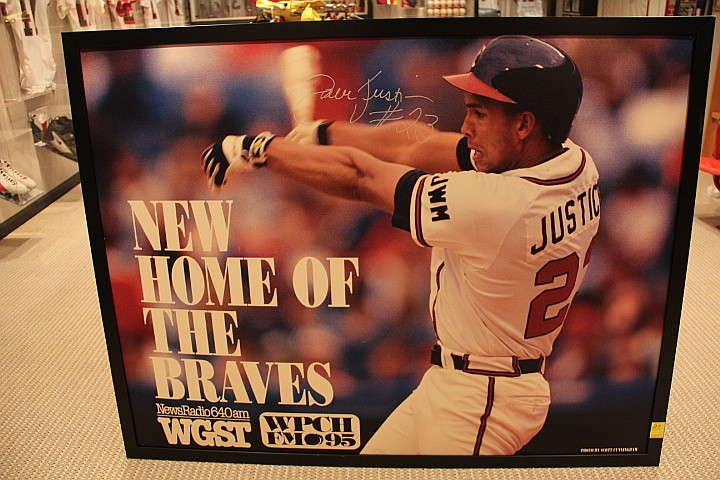 Large Print of David Justice Signed