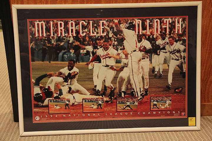 Photo of Braves. 1992 National League Champions Game