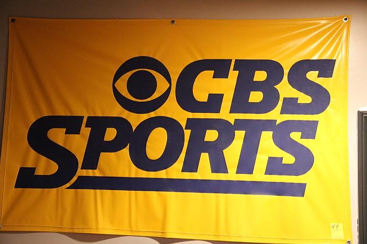 CBS Sports Banner Yellow Vinyl- Rare
