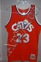 Lebron James Signed 1986/87 Away Orange Jersey. w/COA