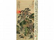 YAN BOLONG (1898-1955) Rising Sun turtle life Songhe sickness