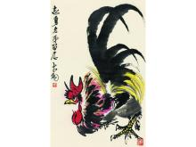 Chen Dayu (1912-2001) Roosters