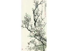 "Zhang tied to calligraphy ""Jade Snow clearing"""