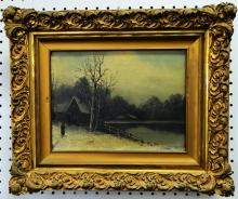 EARLY 20TH C. SIGNED AMERICAN LANDSCAPE OIL/CANVAS