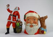 ROYAL DOULTON TOBY MUG & 'SANTA CLAUSE' FIGURE