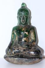 RARE 18TH CENTURY CHINESE PEKING GLASS BUDDHA