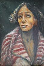 Bert Phillips  (1868 - 1956 oil ptg/canvas Indian