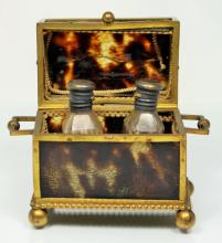 ANTIQUE BOULLE CONTINENTAL PERFUME CASKET