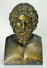 BRONZE FIGURE OF A GREEK GOD
