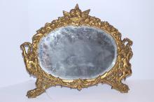 Antique c1880 American Art Nouveau Mirror~Signed NB&IW
