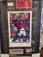 The Thrilla in Manila signed and authenticated display