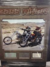 EASY RIDER DISPLAY SIGNED & AUTHENTICATED FONDA HOPPER