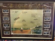 THE KENTUCKY DERBY SIGNED DISPLAY 8 SIGNATURES