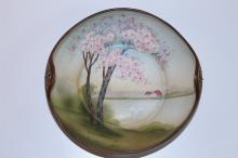 ANTIQUE NIPPON HAND PAINTED CHERRY BLOSSOM BOWL