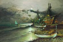 ANTONIO TORRIELLI (ITALIAN 20TH C.) OIL ON CANVAS