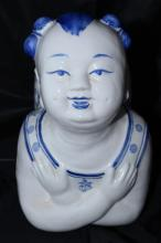 QING DYNASTY CHINESE PORCELAIN CHILD PILLOW