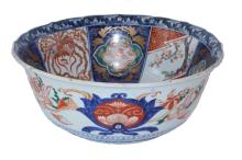 19TH CENTURY JAPANESE LARGE IMARI WASH BOWL
