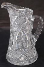 AMERICAN BRILLIANT CUT GLASS PITCHER CIRCA 1915
