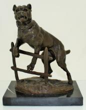 C. VALTON FRENCH BRONZE MASTIFF GUARD DOG
