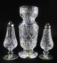 3PC COLLECTION WATERFORD AMERICAN CUT CRYSTAL