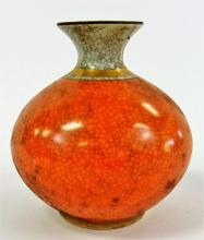 ROYAL COPENHAGEN VASE WITH CRACKLE GLAZE