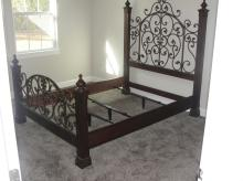 Queen sized bed fram with head and foot board