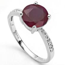 2CT GENUINE ROUND RUBY SOLITAIRE RING