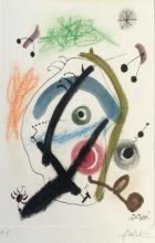 PENCIL SIGNED JOAN MIRO ARTIST PROOF LITHOGRAPH