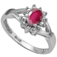 EXQUISITE AFRICAN RUBYDIAMOND STERLING RING
