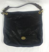 NEW FOSSIL BLACK LEATHER SHOULDER BAG