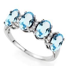 GORGEOUS 2CT BLUE TOPAZ/DIAMOND ACCENT RING