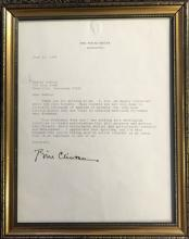 BILL CLINTON HANDSIGNED LETTER V$3800