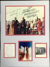 SIGNED JOHN GLENN/JFK NASA PHOTO COLLAGE