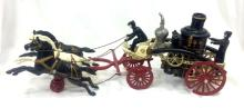 ANTIQUE CAST IRON FIRE ENGINE