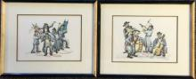 LOT OF 2 PENCIL SIGNED ARTIST PROOF LITHO'S