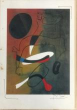 SIGNED JOAN MIRO ABSTRACT PRINT