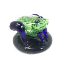 ADORABLE GREEN ART GLASS FROG