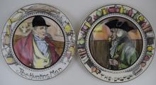 ROYAL DOULTON THE HUNTING MAN & THE DOCTOR PLATES