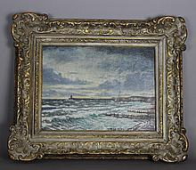 Christopher Richard Wynne Nevinson ARA (1889-1946) – Oil painting – 'Newhaven'