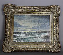 Christopher Richard Wynne Nevinson ARA (1889-1946) – Oil painting – 'Newhav