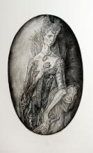 Leonid Stroganov ? Etching ? ?Courtesan?, 47cm x 30cm, signed, No. 11/60 (u